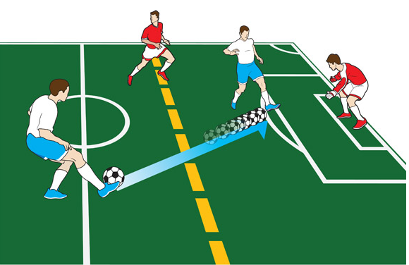 Visual demonstration of an offside player